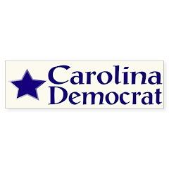 Carolina Democrat Bumper Sticker