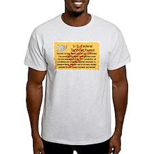 """Terrorist Hunting Permit"" Ash Grey T-Shirt"