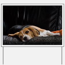 Yard Sign - Lazy Beagle