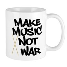 Make Music Not War Drums Mug