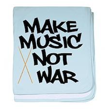 Make Music Not War Drums baby blanket