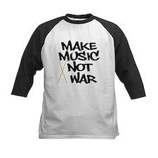 Make Music Not War Drums Baseball Jersey