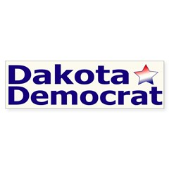 Dakota Democrat Bumper Bumper Sticker