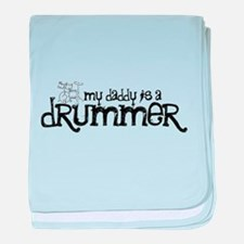 My Daddy is a Drummer baby blanket