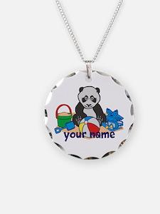 Personalized Beach Panda Necklace