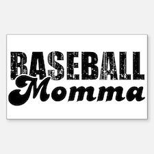 Baseball Mamma Rectangle Decal