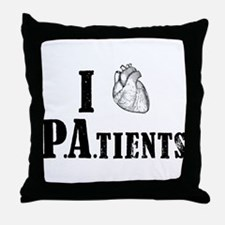 I Heart Patients Throw Pillow
