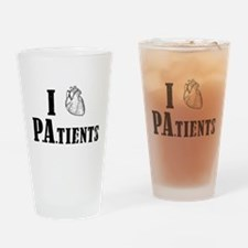 I Heart Patients Drinking Glass
