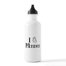 I Heart Patients Water Bottle
