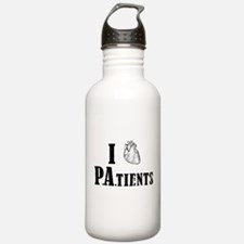 I Heart Patients Water Bottle