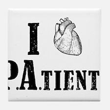 I Heart Patients Tile Coaster