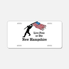 Live Free Aluminum License Plate