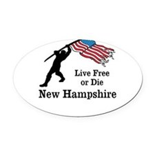 Live Free Oval Car Magnet