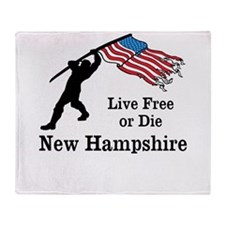Live Free Throw Blanket