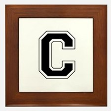 Collegiate Monogram C Framed Tile