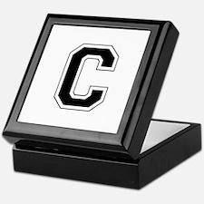 Collegiate Monogram C Keepsake Box