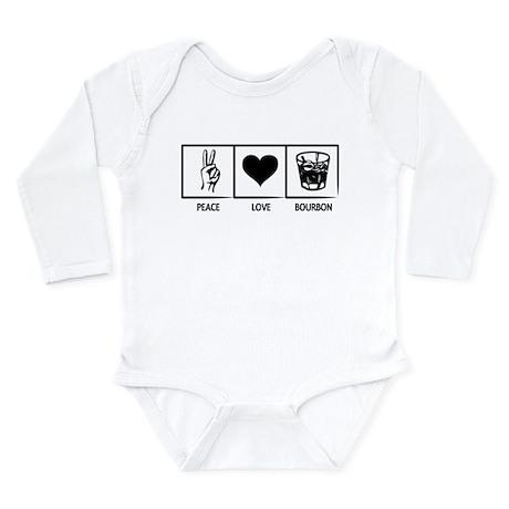 Peace. Love. Bourbon. Long Sleeve Infant Bodysuit