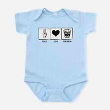 Peace. Love. Bourbon. Infant Bodysuit
