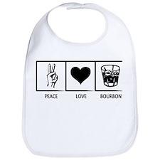 Peace. Love. Bourbon. Bib