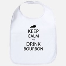 Keep Calm and Drink Bourbon Bib