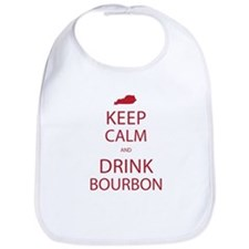 Keep Calm and Drink Bourbon Bib