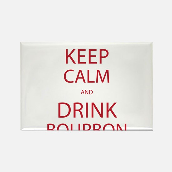 Keep Calm and Drink Bourbon Rectangle Magnet