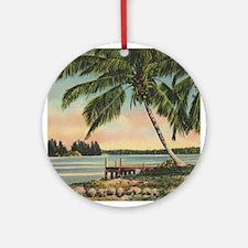 Vintage Coconut Palms Ornament (Round)