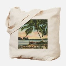 Vintage Coconut Palms Tote Bag