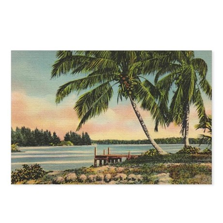 Vintage Coconut Palms Postcards (Package of 8)