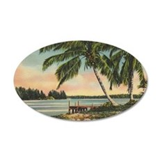 Vintage Coconut Palms Wall Decal