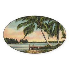 Vintage Coconut Palms Decal