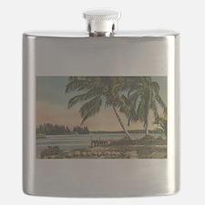 Vintage Coconut Palms Flask