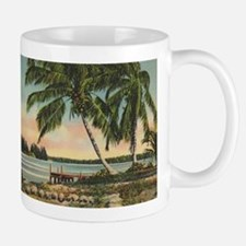Vintage Coconut Palms Small Small Mug