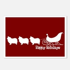 """Collie """"Sleigh"""" Postcards (Package of 8)"""