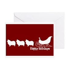 """Collie """"Sleigh"""" Greeting Cards (Pk of 10)"""