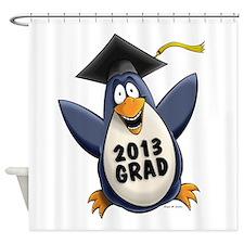 2013 Graduate Penguin Shower Curtain