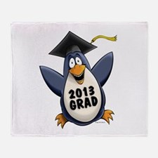 2013 Graduate Penguin Throw Blanket