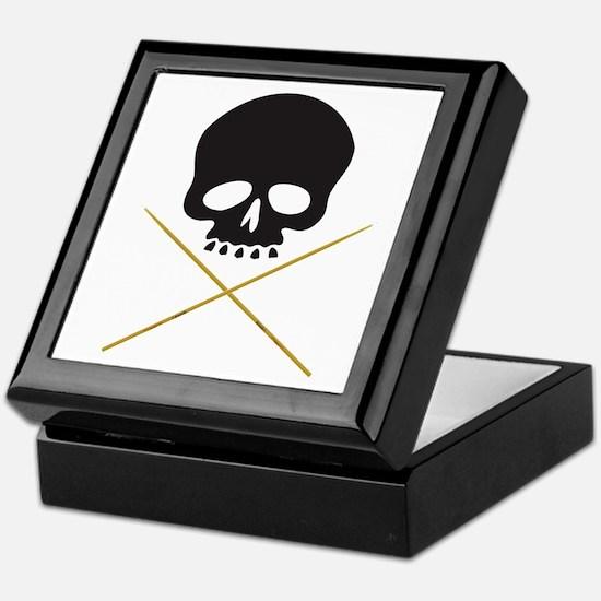 Skull with Drumsticks Keepsake Box