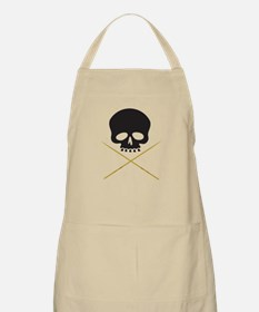 Skull with Drumsticks Apron