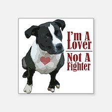 lover not a fighter Sticker