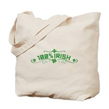 100% Irish St Patricks Day Tote Bag