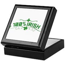 100% Irish St Patricks Day Keepsake Box