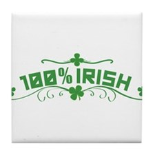 100% Irish St Patricks Day Tile Coaster