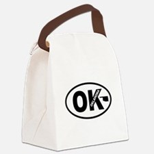Oklahoma Map Canvas Lunch Bag