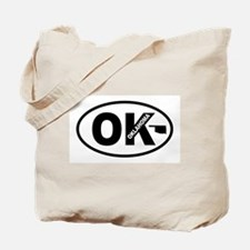 Oklahoma Map Tote Bag