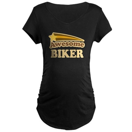 Awesome Biker Maternity Dark T-Shirt