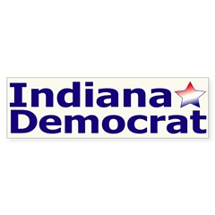 Indiana Democrat Bumper Bumper Sticker