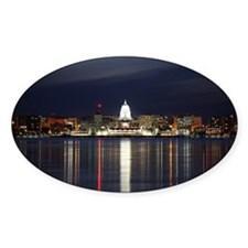 Decal - Skyline Of Madison Wisconsin At