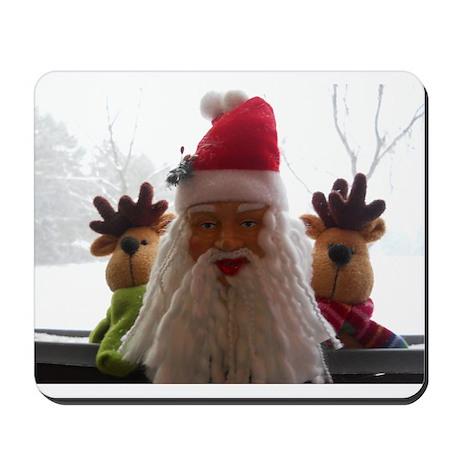 Santa's Checking In Mousepad