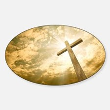 Decal - Stock Photo: cross against the